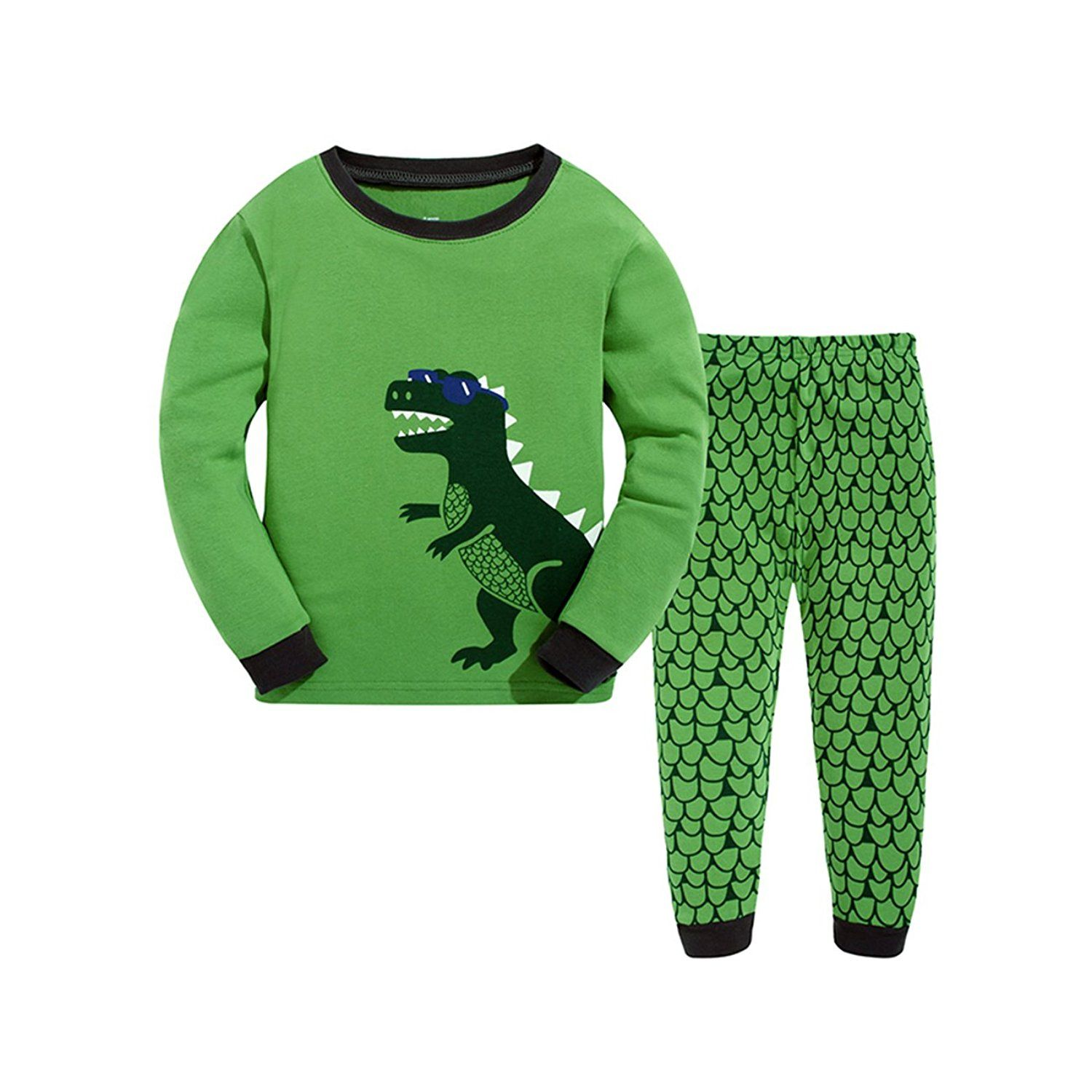 little hand kids boys pyjamas suit dinosaur cotton nightwear pjs little hand kids boys pyjamas suit dinosaur cotton nightwear pjs size 1 7 years