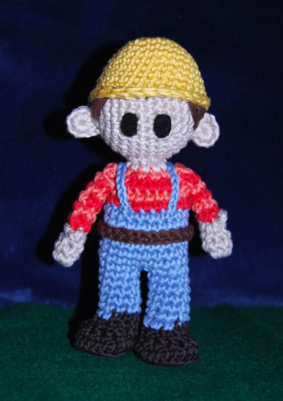 Crocheted amigurumi Bob the Builder | I made these | Pinterest | Muñecas