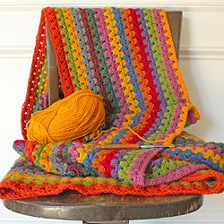 An update on the granny stripe blanket, and three new crafty blogs for you to check out!