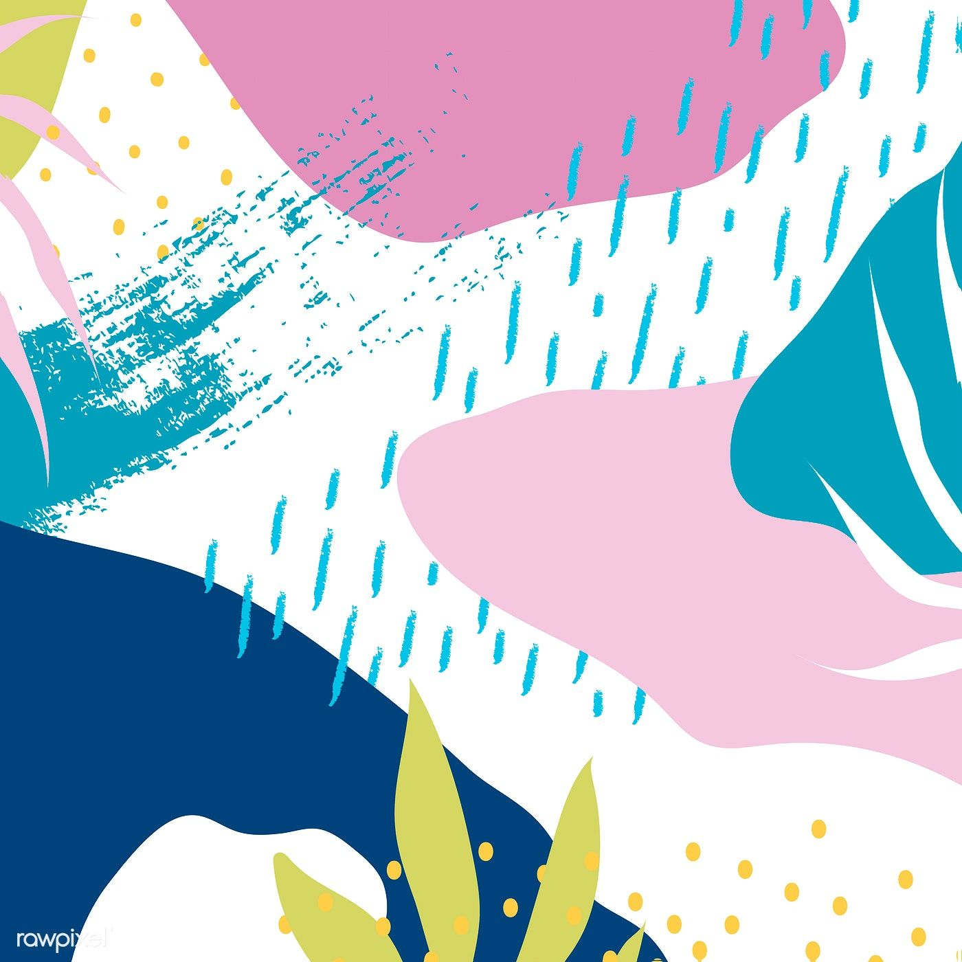Colorful Memphis design background vector free image by