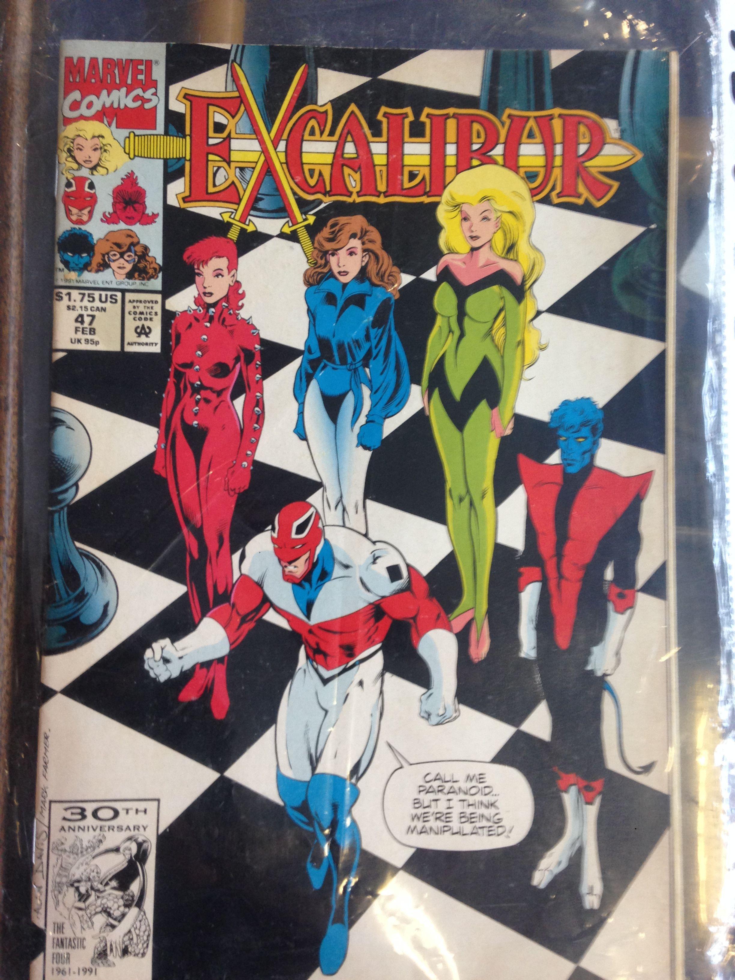 Marvel Excalibur vintage comic for sale at Black Fish Collectables