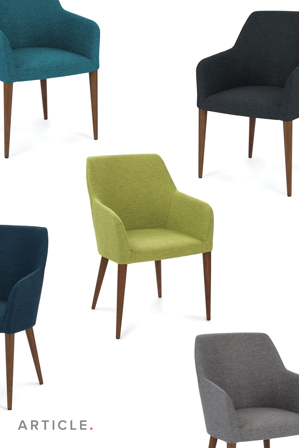 Commercial Dining Room Chairs Simple Turquoise Dining Chair  Solid Wood Legs  Article Feast Modern 2018