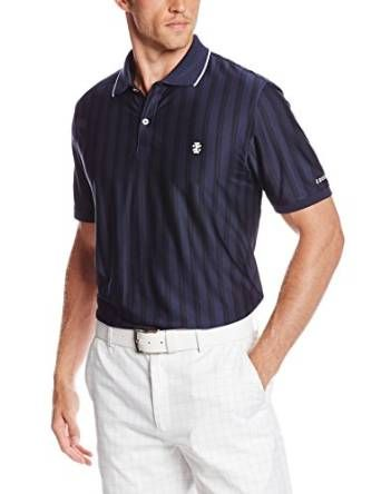 7c5b644ba3c This stylish and classy looking mens masters vertical stripe golf polo shirt  by Izod is a must have for every mans wardrobe
