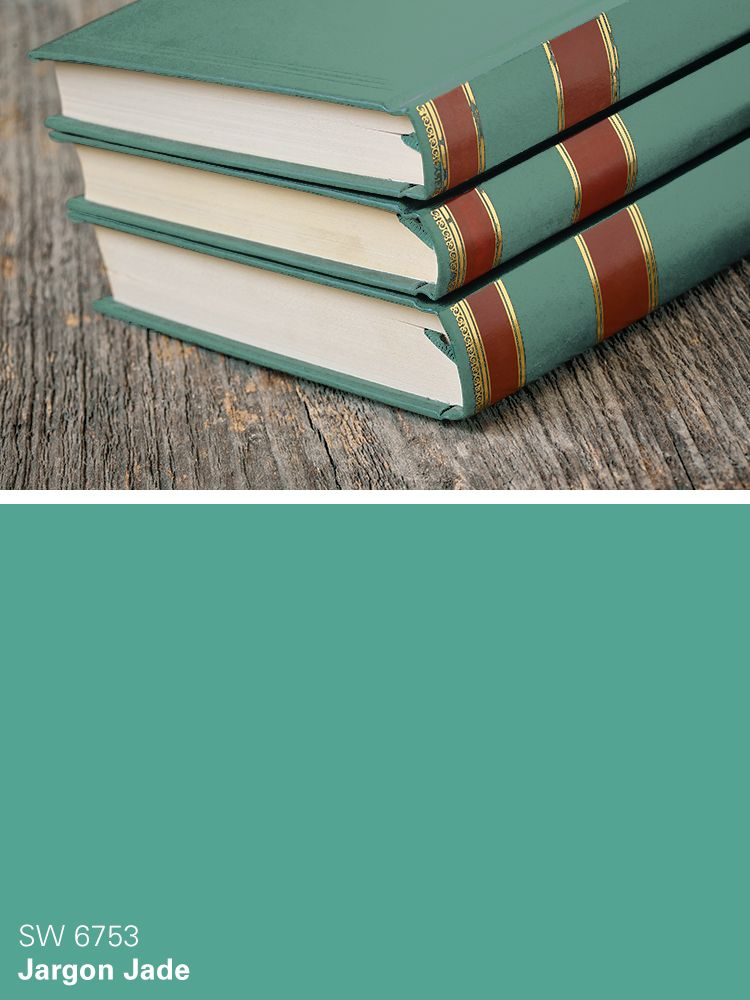 Delightful Sherwin Williams Green Paint Color: Jargon Jade (SW 6753)