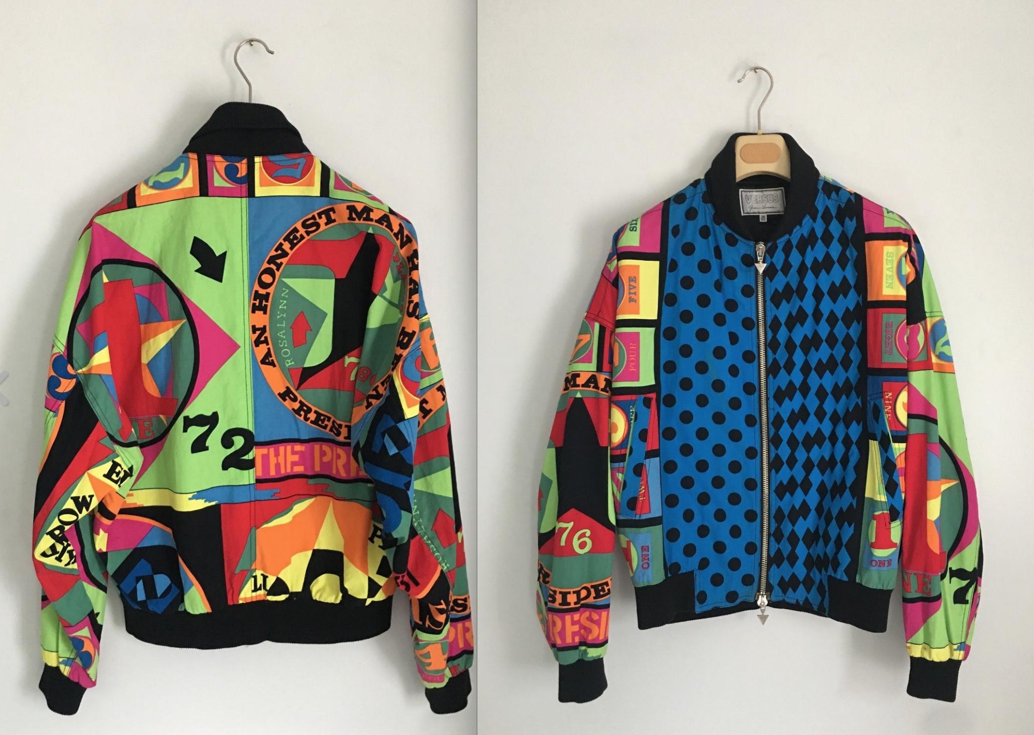 Rare Vintage Versace Bomber Jacket By Hitzshop On Etsy