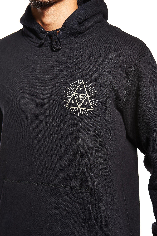 Huf Third Eye Triangle Pullover Hoodie Black Clothes Black Hoodie Pullover Hoodie [ 2880 x 1916 Pixel ]