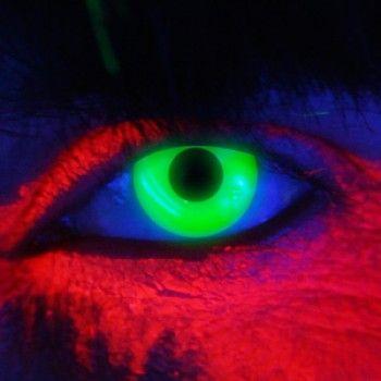 Kleurlenzen Halloween.25 95 Glow Groen Kleurlenzen Glow In The Dark Contacts
