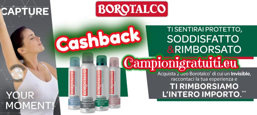 Rimborso Totale Deodoranti Borotalco