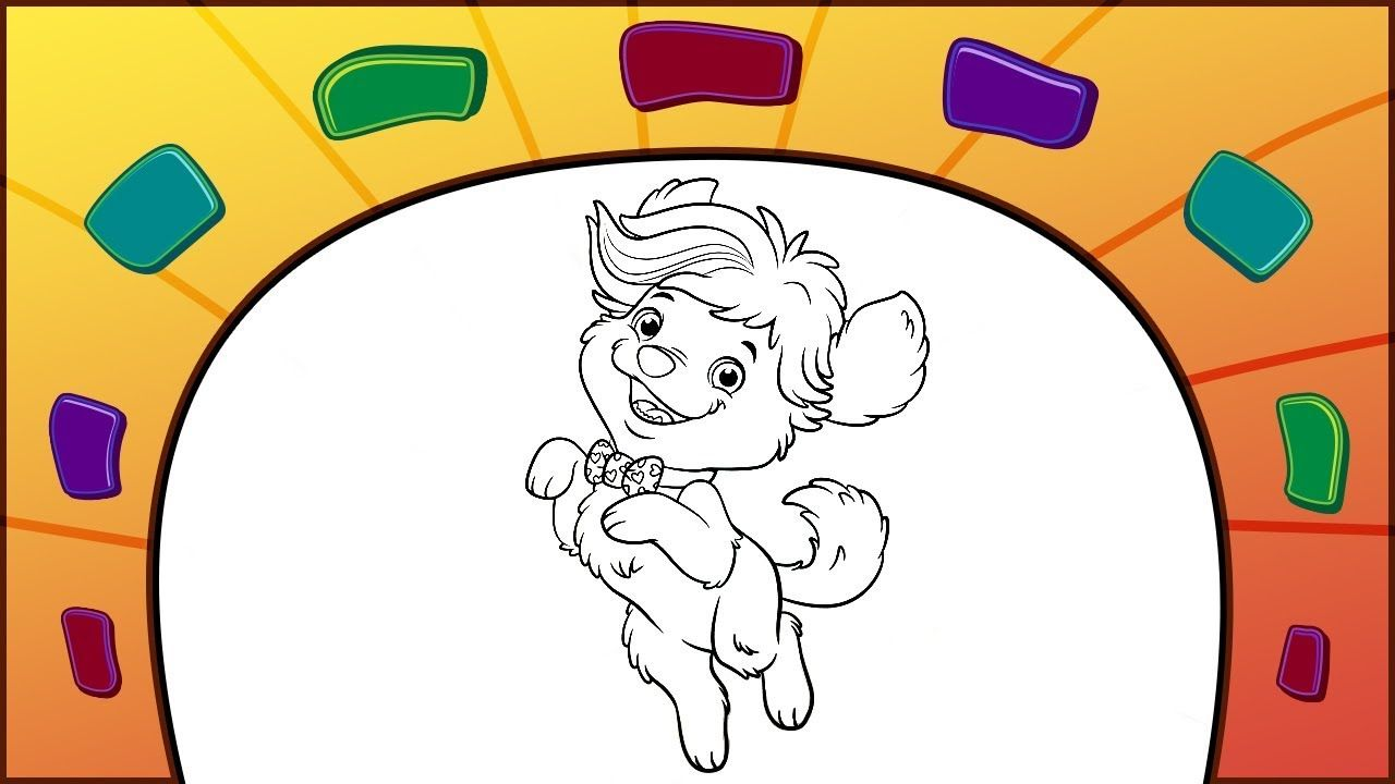 Sunny Days Coloring Page How To Color Doodle Dog Doodles Doodle Dog Coloring Pages