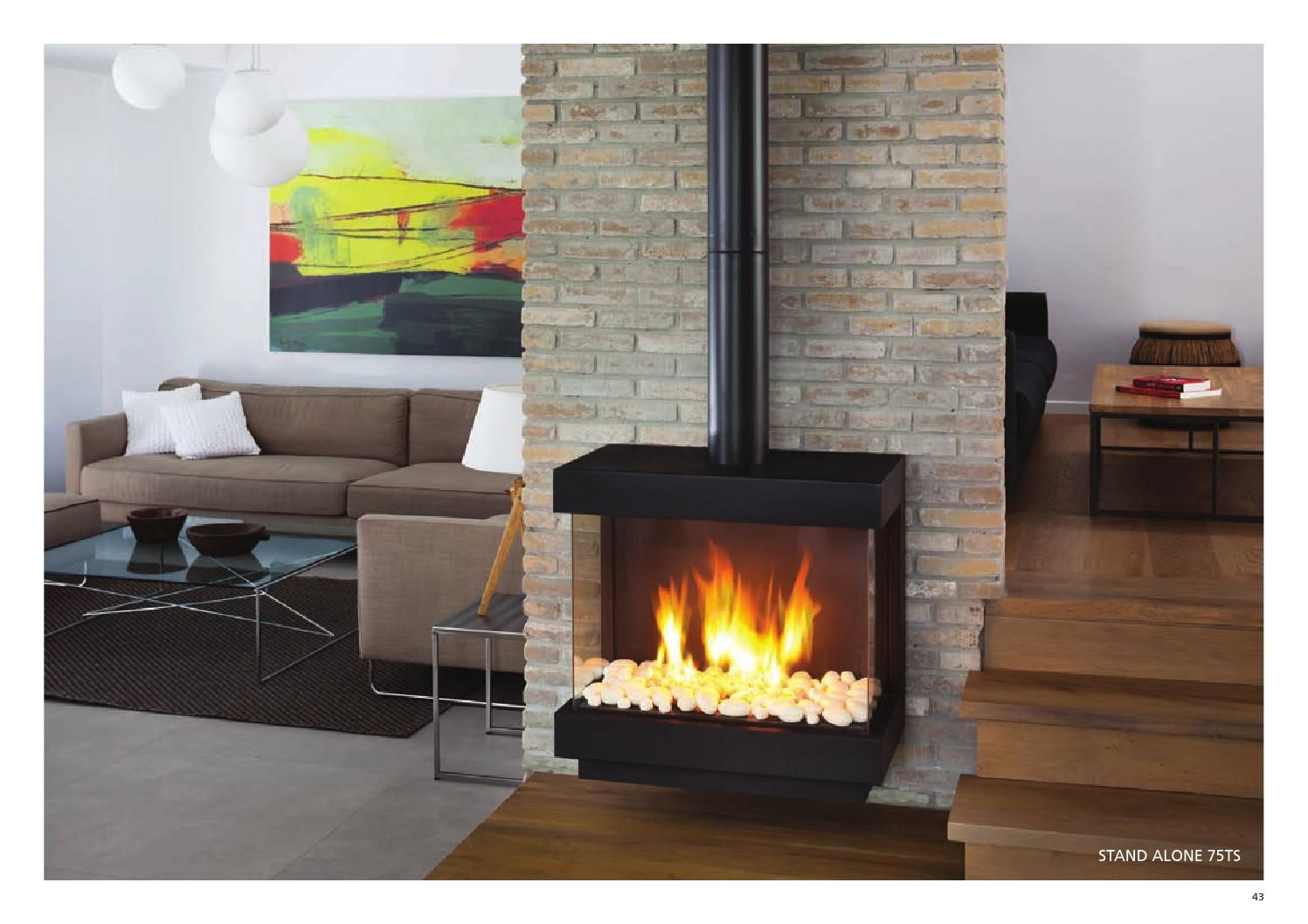 Ortal Usa Catalog 2015 Modern Fireplace Freestanding Fireplace