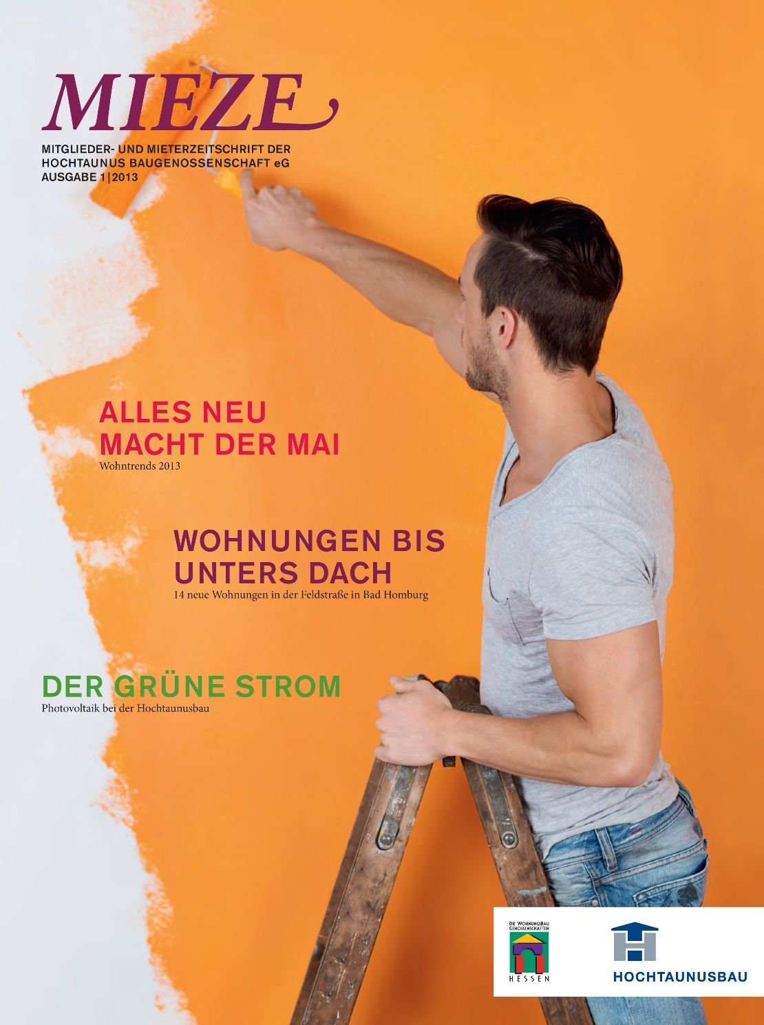Von FuP entwickeltes Layout für eine Mieterzeitschrift. Mehr Informationen unter www.fup-kommunikation.de
