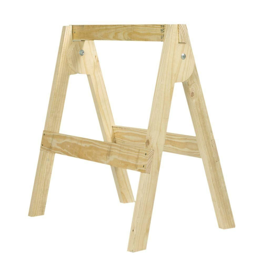 Belknap hill trading post folding wood sawhorse kit 163392 the belknap hill trading post folding wood sawhorse kit 163392 the home depot keyboard keysfo Images