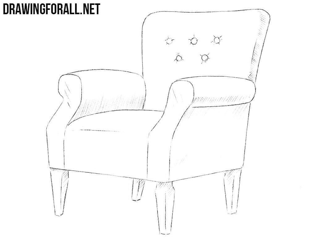 The Best Armchair Drawing Easy And Pics In 2020 Art Chair Wicker Dining Chairs Chair Drawing