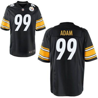 the latest 327ab d1a7d Men's Pittsburgh Steelers Nike Black Custom Game Jersey ...