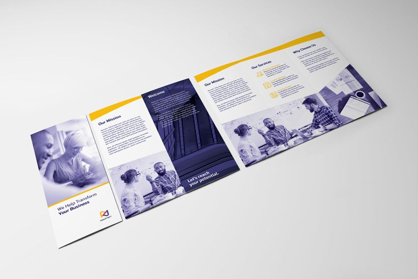 How to Make a Trifold Brochure Pamphlet Template Illustrator