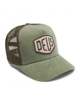 DEUS Trucker pet Foxtrot Shield - olive  ad5f4c82f5b