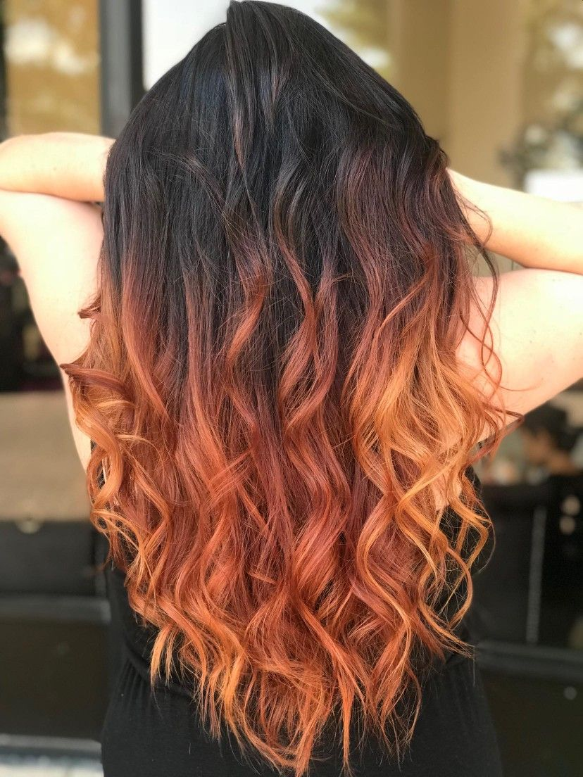 Copper hair #copperbalayage