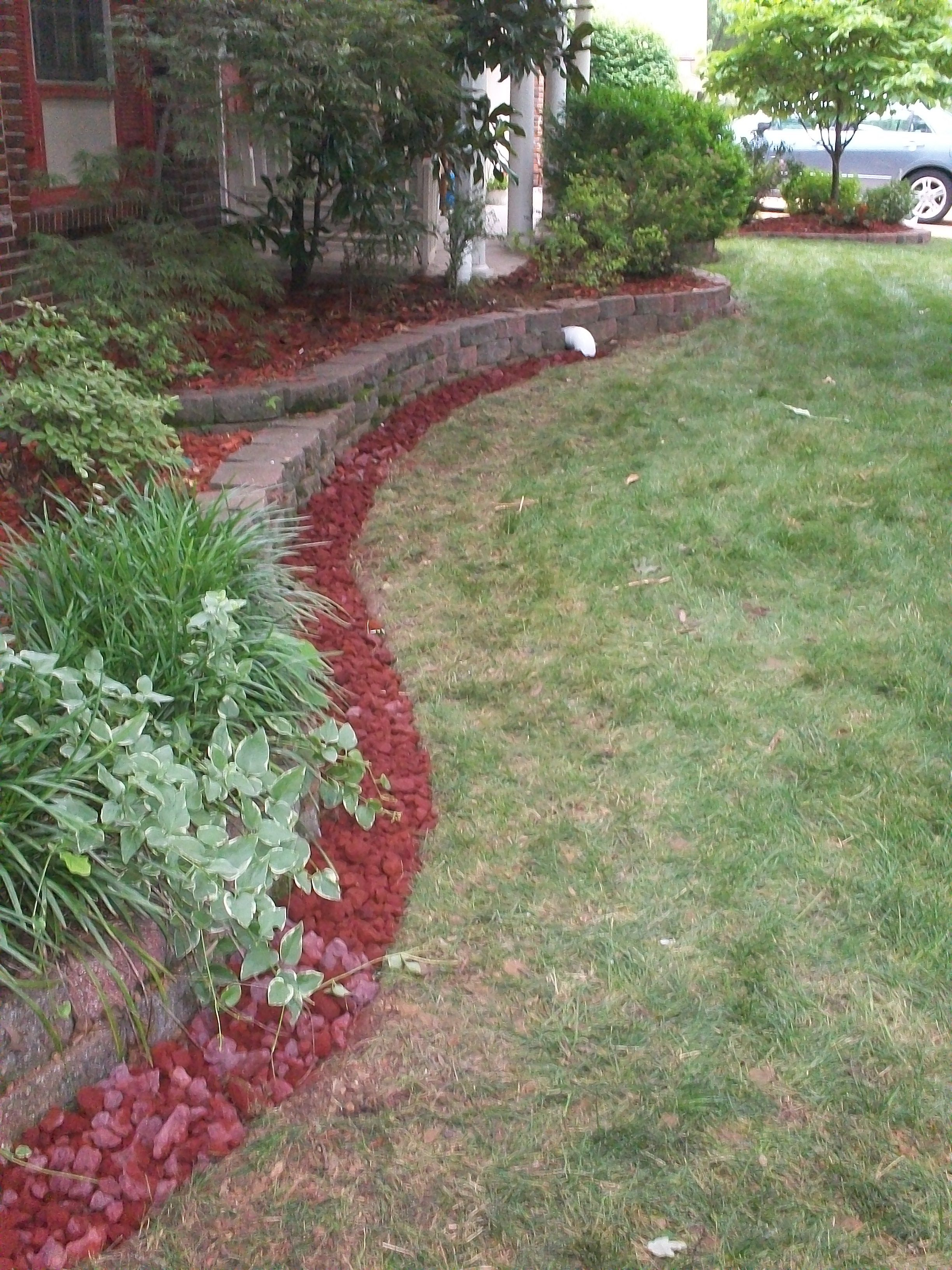 Finished French drain | French drain, Backyard, Outdoor