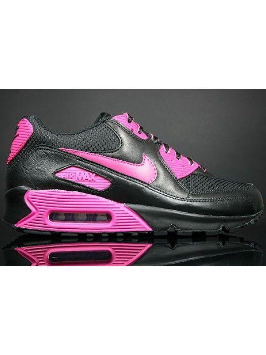 design de qualité 788e2 a9d34 Nike Air Max 90 Femme Chaussures De Course Noir Rose {zLxWUc ...