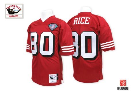 385711a39 ... amazon authentic mitchell and ness mens jerry rice red patch jersey san  francisco home nfl 1994