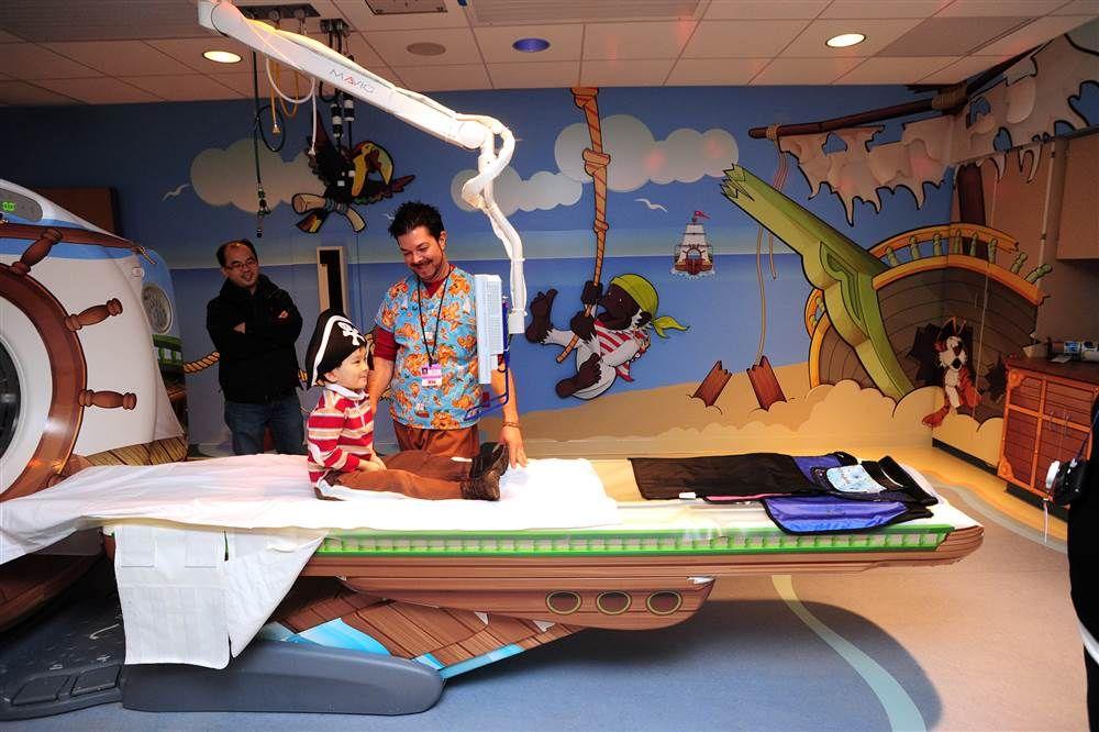 Pedal cars, pirates help children conquer hospital fear