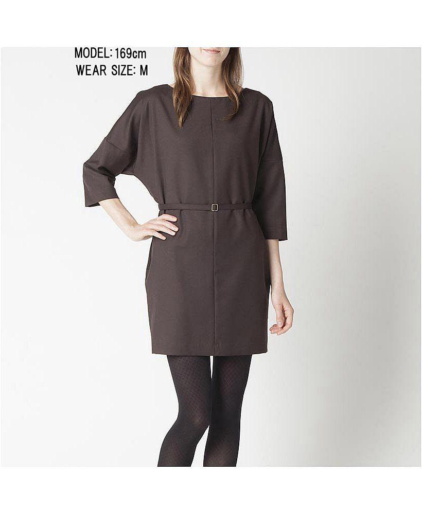 Women wool blended belted sleeve dress my style pinterest