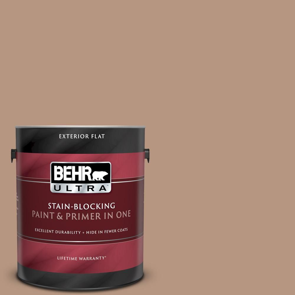 Behr Ultra 1 Gal S220 4 Potters Clay Flat Exterior Paint And Primer In One 485401 The Home Depot Behr Ultra Exterior Paint Behr Marquee