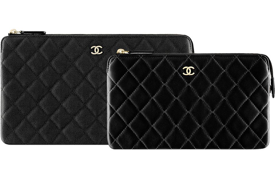 b53bbb907378 Chanel Classic Zip Pouches   Dream Closet   Chanel, Pouch, Shoe bag