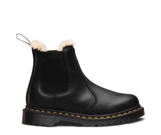 DR MARTENS FUR-LINED 2976 LEONORE WYOMING CHELSEA BOOTS #winterboots