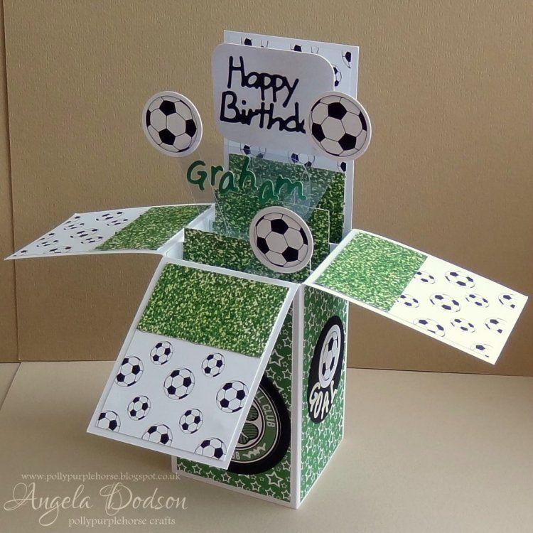 Football Pop Up Box Card Pop Up Box Cards Pop Up Cards