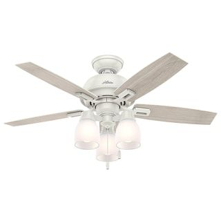 44 inch ceiling fan with light monte carlo hunter fan donegan collection fresh white 44inch ceiling and light kit