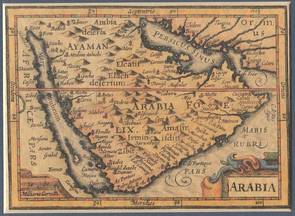 an old map for Great Yemen