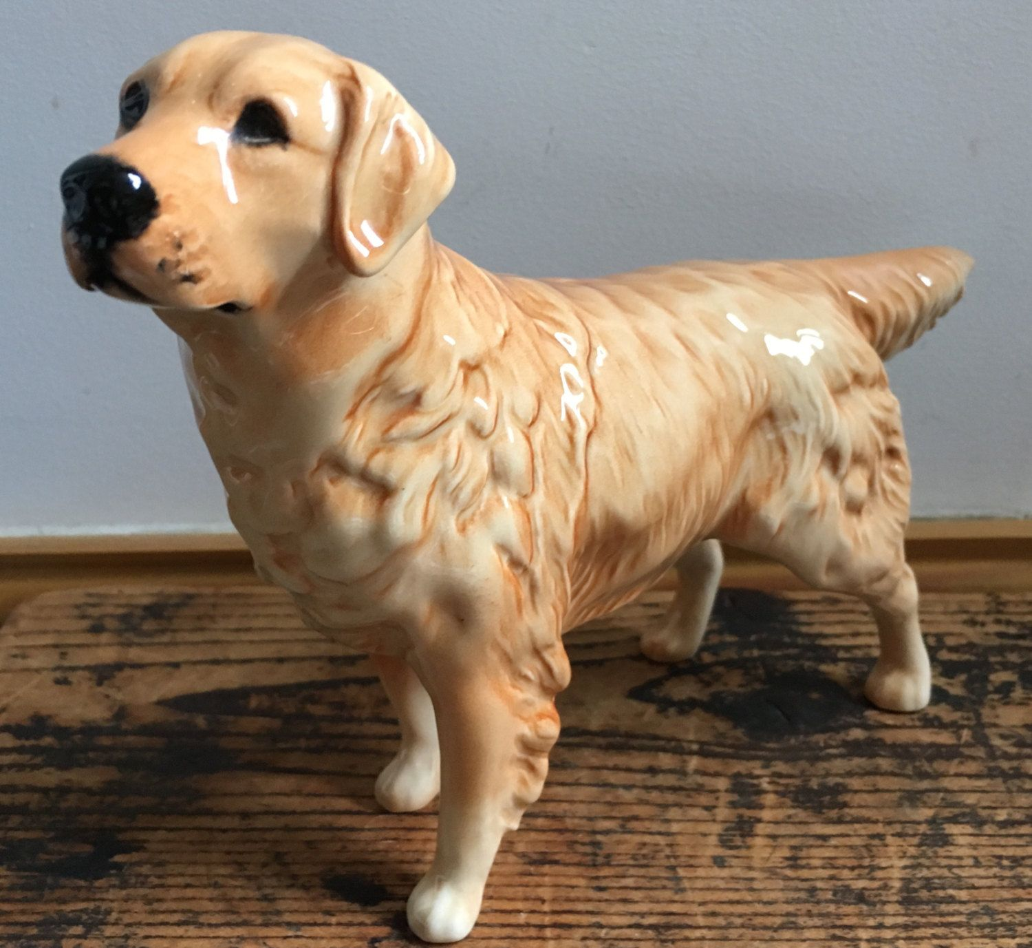 Vintage Beswick Golden Retriever Figurine Cabus Cadet Golden Retriever Dog Figurines Golden Retriever S