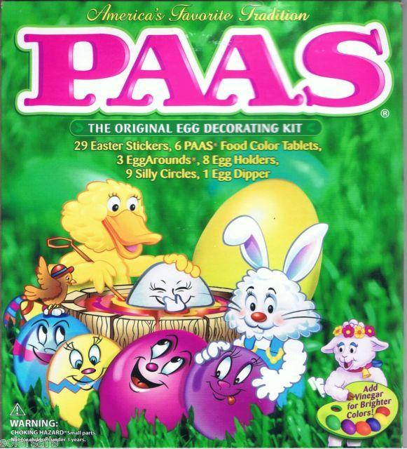 Paas Easter Egg Decorating Kit Color Coloring Dye Basket Stands