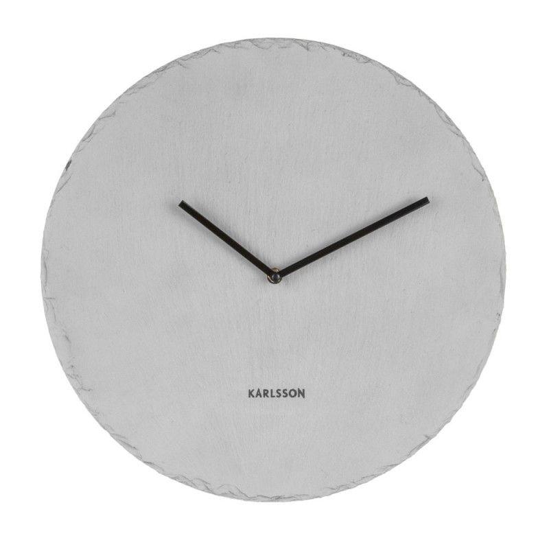 Karlsson Slate Wall Clock Grey In 2020 Clock Pendulum Wall Clock Wall