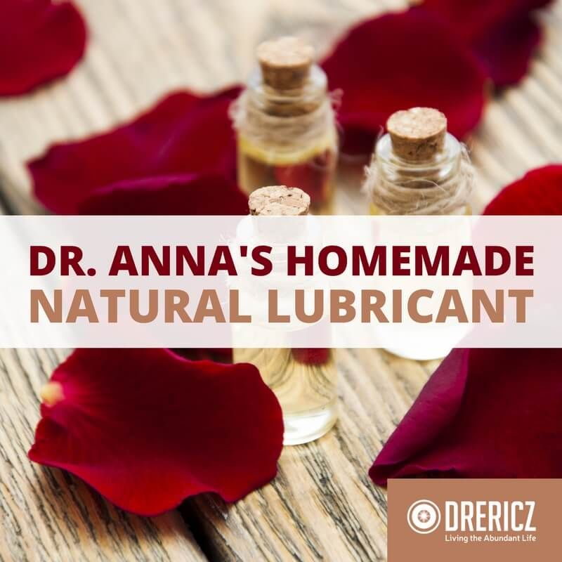 This recipe for a diy personal lubricant comes from my friend, Dr. Anna Cabeca. Natural lubricants are a lifesaver for women experiencing vaginal dryness.