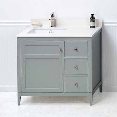 ronbow briella 36 bathroom vanity cabinet base in ocean gray 36 rh uk pinterest com