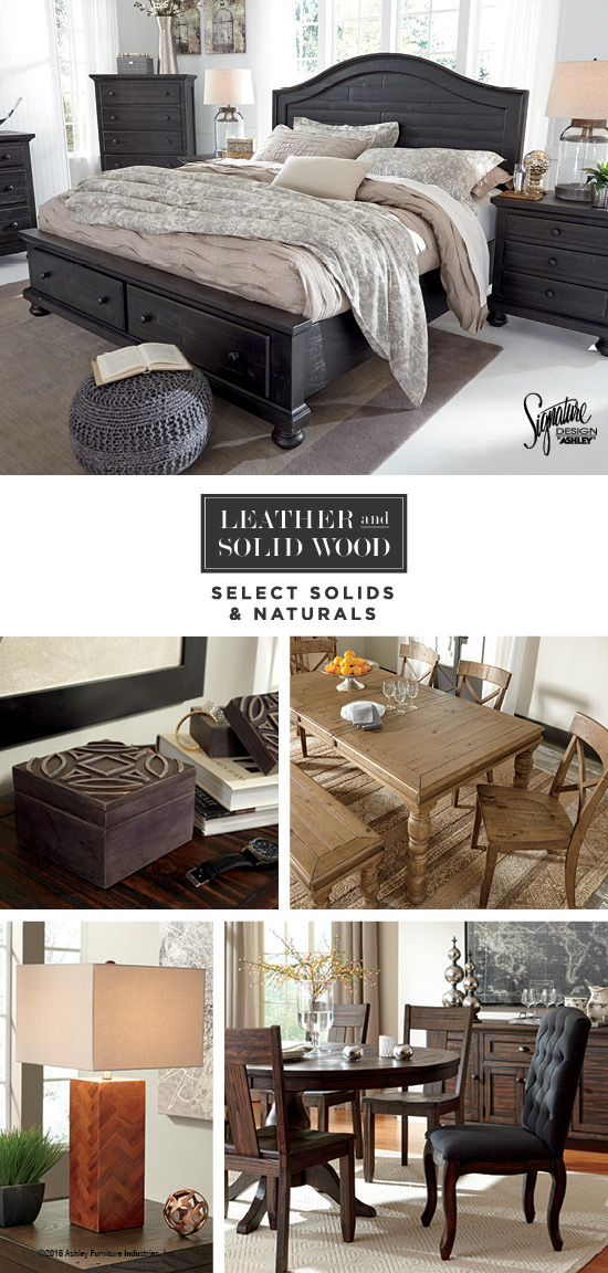 Leather Solid Wood Select Solids Naturals Home Furniture Style Ideas Ashley Ashleyfurniture