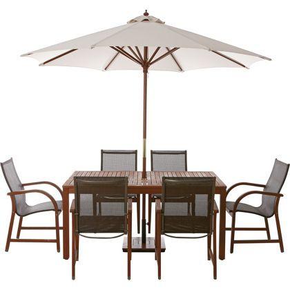 Rio 6 Seater Wooden Garden Furniture Set