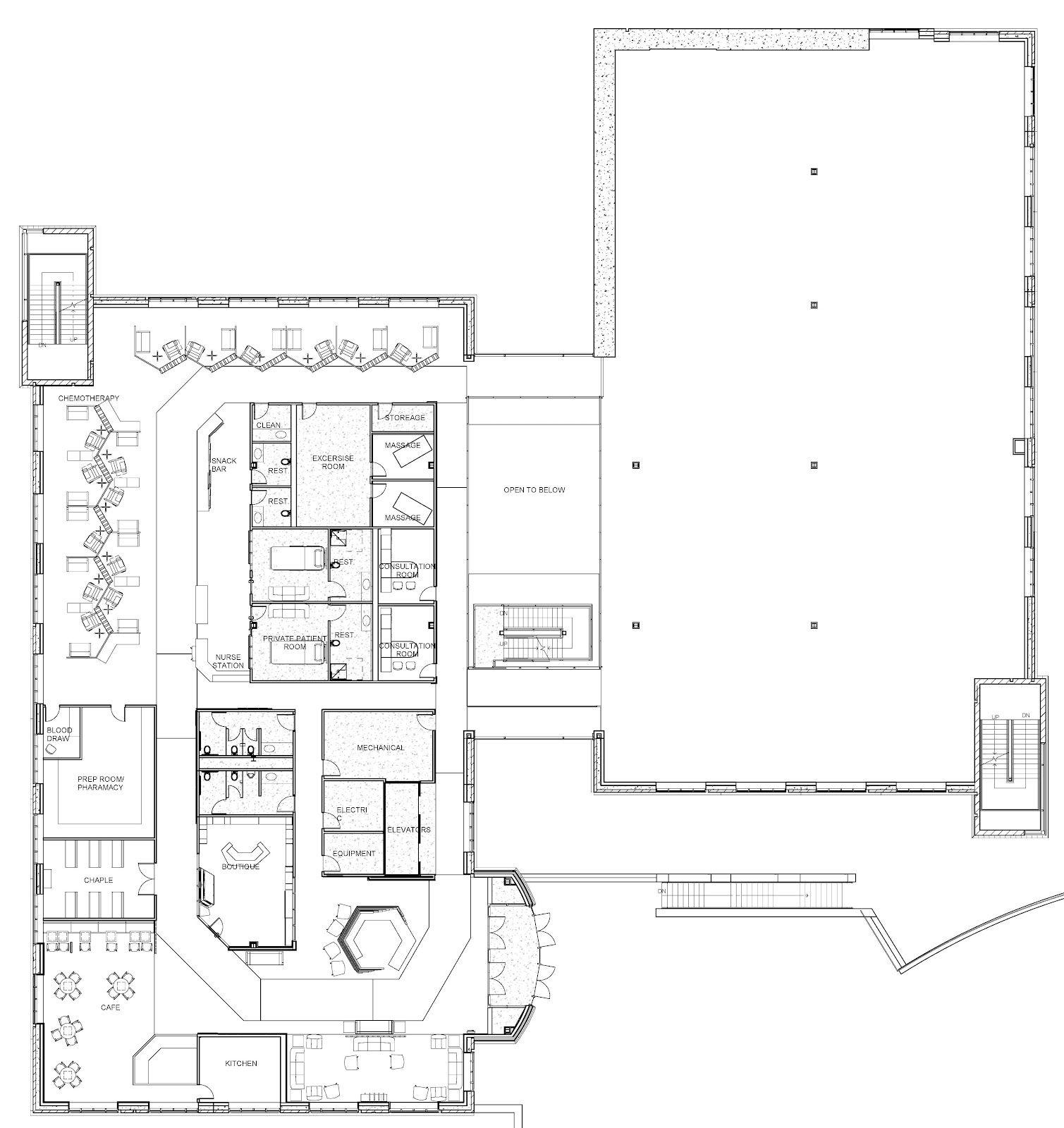 oncology center floor plans First Floor Plan Health