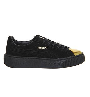 f7241c12ab38 Buy Black Gold Toe Black Puma Suede Platform from OFFICE.co.uk.