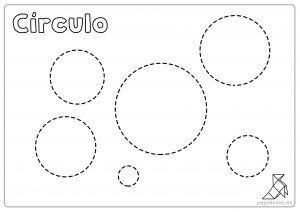 Ficha círculos para repasar y colorear niños   Inicial   Preschool
