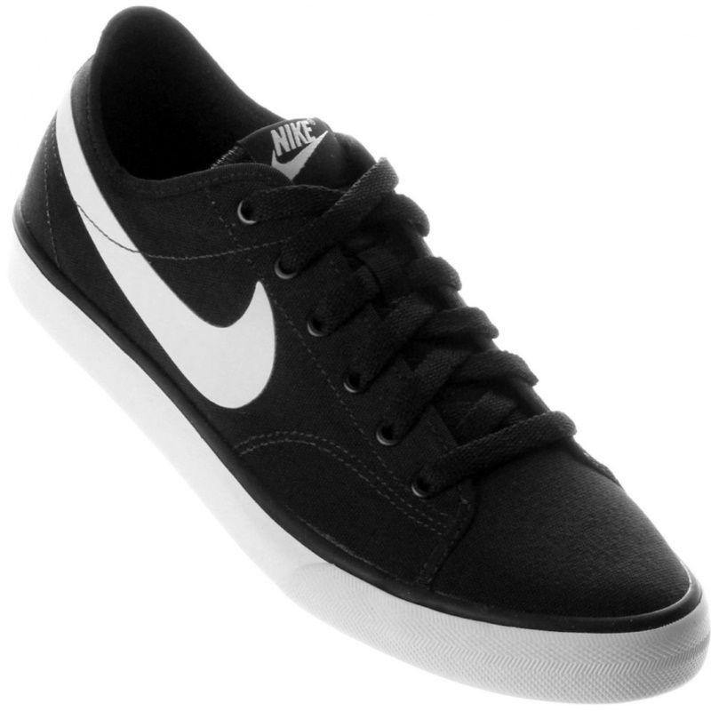 Tênis Nike Primo Court Canvas Casual Masculino Preto  d0408e429bfc4