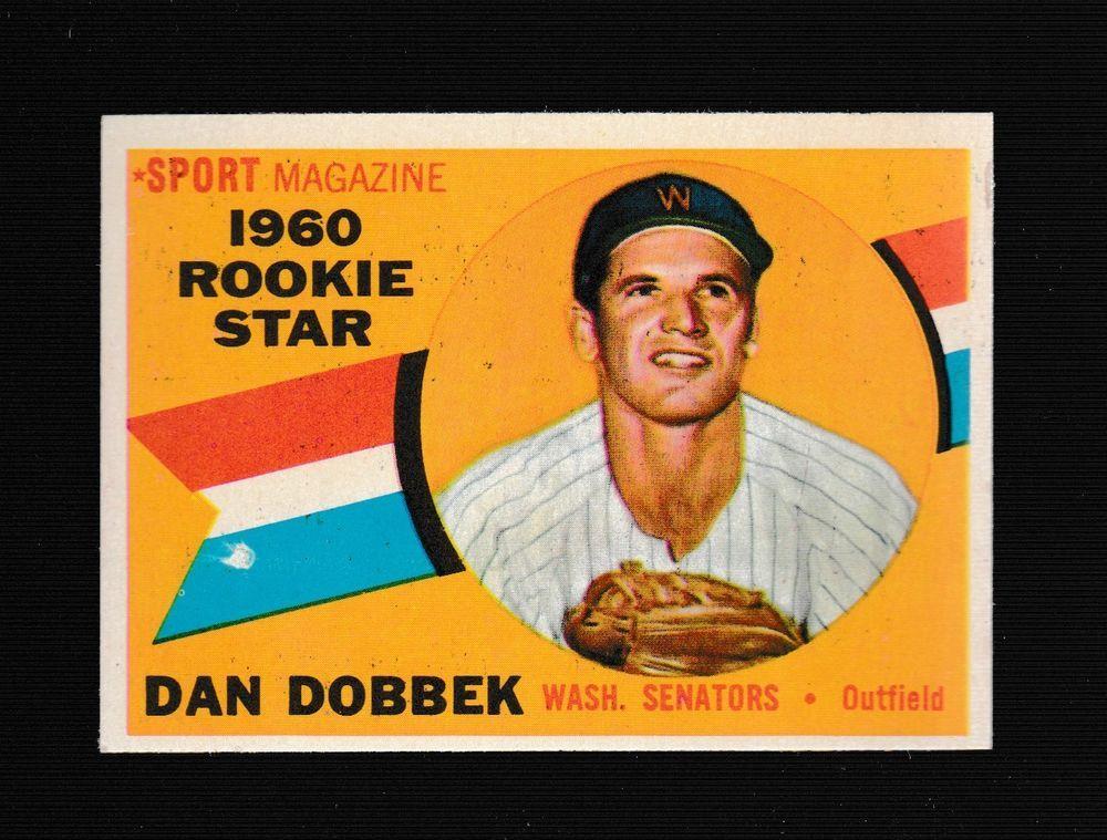 1960 topps baseball card 123 dan dobbek washington
