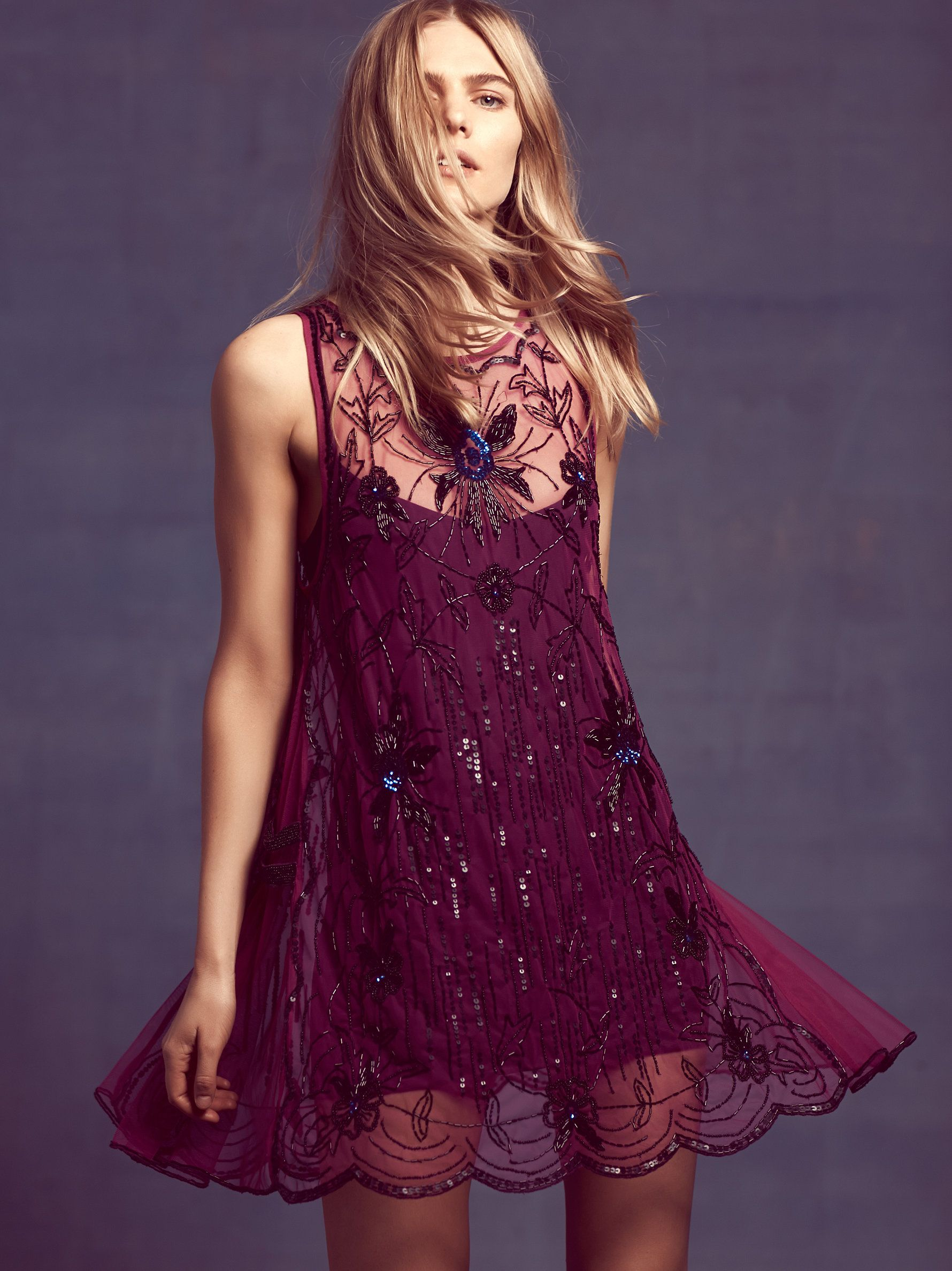Free People Night Breeze Beaded Shift at Free People Clothing ...