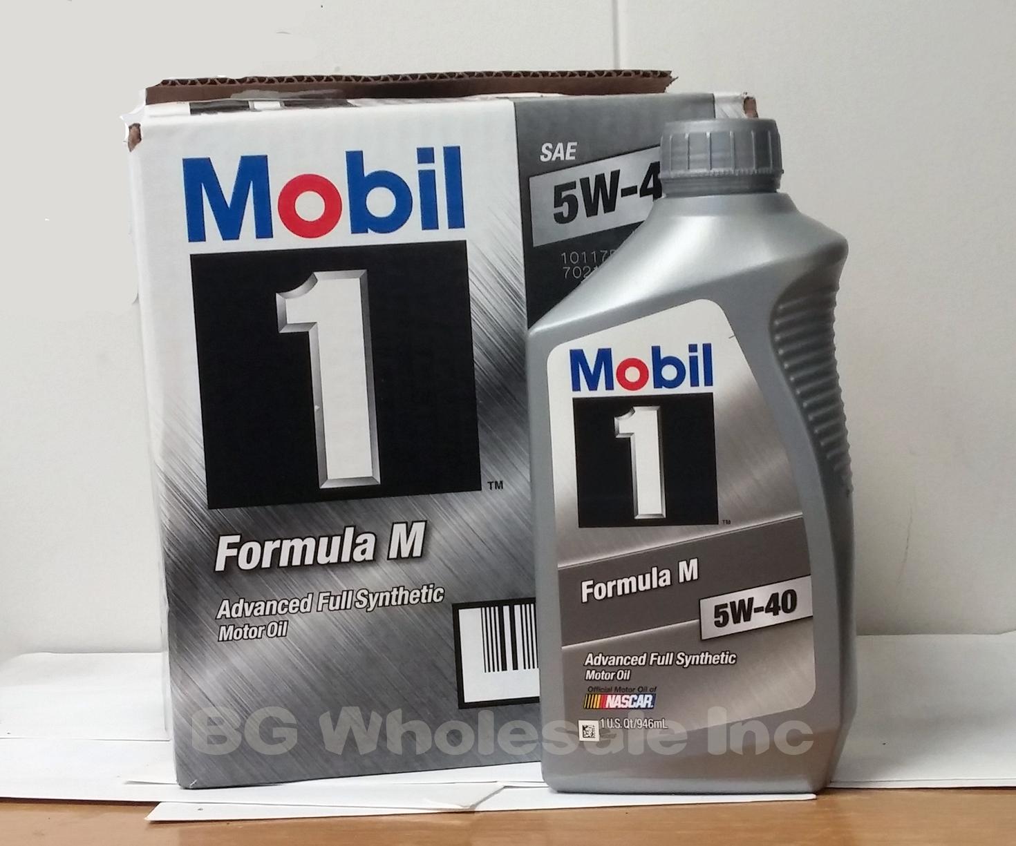 mobil 1 formula m 5w 40 6 quarts to a case approved. Black Bedroom Furniture Sets. Home Design Ideas