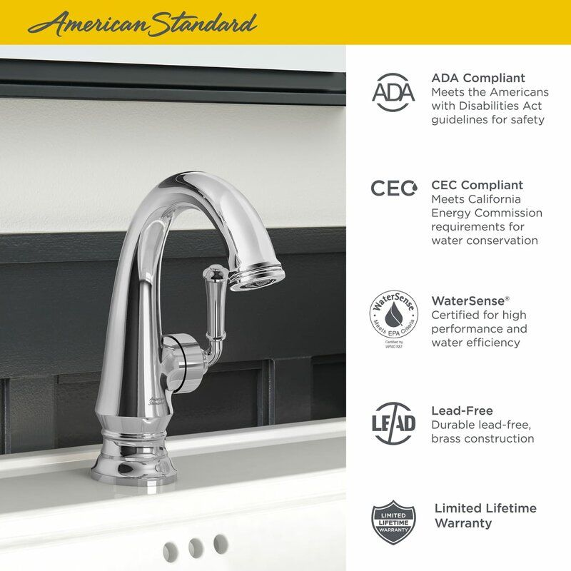 American Standard Delancey Single Hole Bathroom Faucet Wayfair Single Hole Bathroom Faucet Bathroom Faucets Faucet