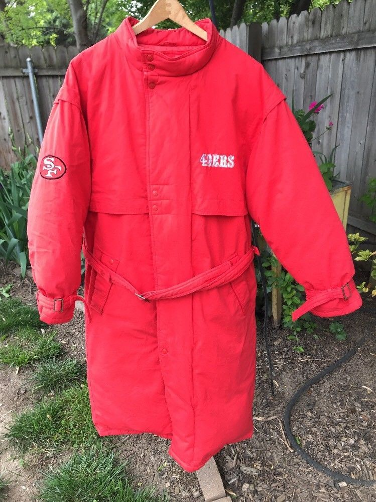 official photos 62436 47694 Vintage Apex One Stadium Down Coat SF 49ers Med Long ...