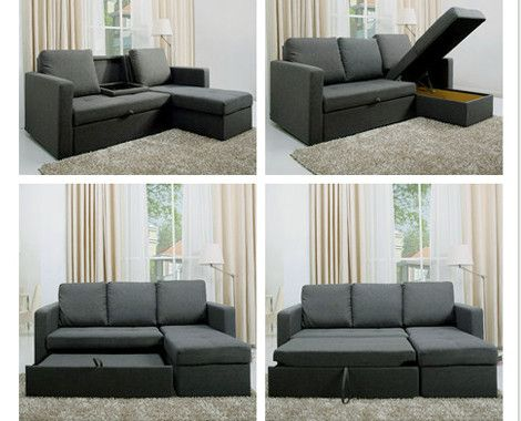 $599 for a Multi-Functional L-Shaped Sofa Bed | Dream Home in 2019 ...