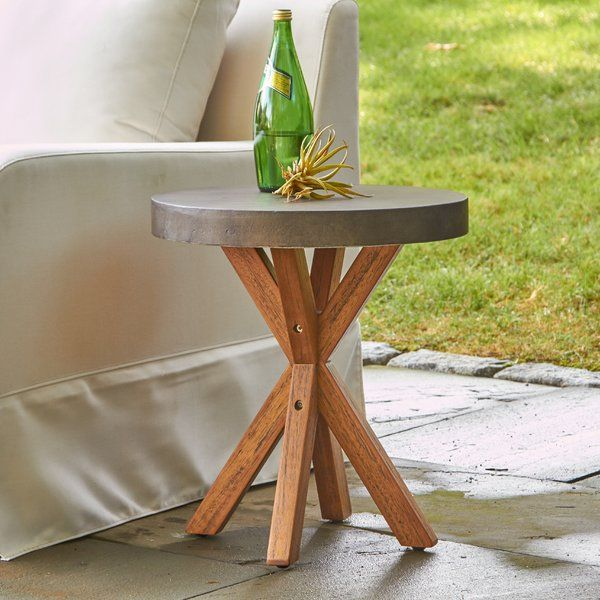 mancini round end table projects to try pinterest patio table rh pinterest com